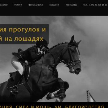 Сайт для продажи спортивных лошадей